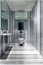 Striato Olimpico Marble Bathroom Design, Striato Olimpico Grey Marble Bathroom Design
