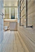 Travertino Silver Bathroom Design, Wall and Floor, Travertino Silver Grey Travertine Bathroom Design