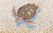 Caretta Caretta Mediterranean Mosaic, Seashell Beige Limestone