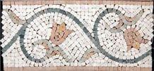 Verde Laguna Marble, Aegan Brown Marble Mosaic Bor