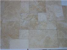 Light Beige Travertine Tile Pattern Set
