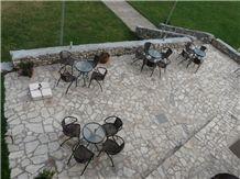 Beige Sandstone Terrace Pavement, Hohenzollernpark Beige Sandstone Pavement