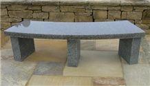 G654 Grey Polished Granite Bench