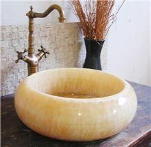 Natural Stone Sinks,Wash Basins,Jade Of Ice-flake Onyx Wash Basins
