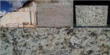 Giallo Santa Cecilia Napoli Granite, Brazil Yellow Granite Block