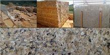 New Venetian Gold Granite Block, Brazil Yellow Granite