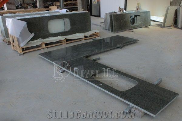 Chengde Green Kitchen Granite Countertops, Rainforest Green Granite  Countertops
