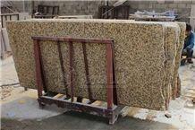 China Chrysanthemum Yellow Polished Granite Slabs
