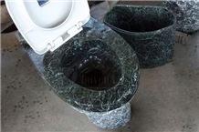 China Green Polished and Natured Toilet Sets