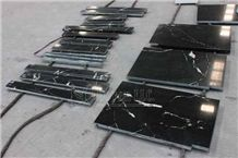 China Polished Black Biotite Granite Wall Border Lines