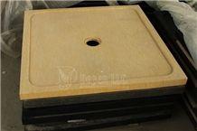 Egypt Cream Honed Marble Bath Shower Trays, Egypt Beige Marble Trays