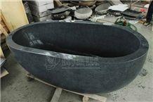 G654 Polished and Honed Black Granite Bath Tubs, China Impala Blackbath Tubs