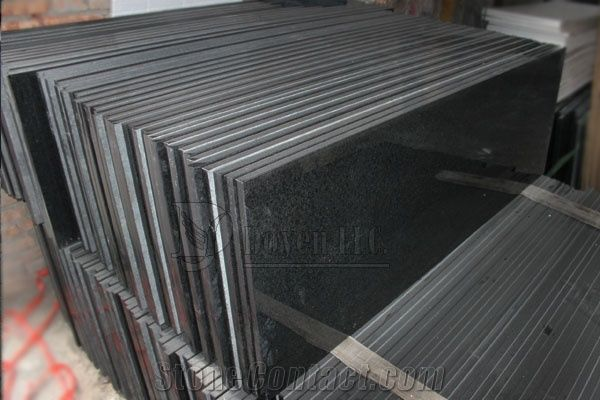 G Prefab Kitchen Polished Black Granite Table Tops Magma Black - Prefab wood table tops