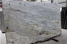 India River White Polished Granite Slabs