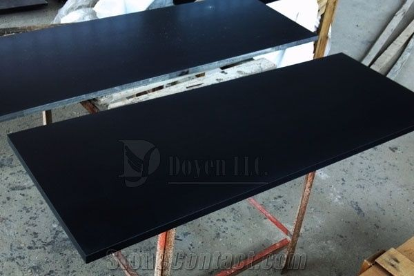 Mongolia Black Prefab Honed Granite Table Tops From China - Prefab wood table tops