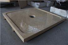 Polished Egypt Botticino Marble Bath Shower Trays