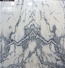Pele De Tigre Marble Tiles and Slabs, Pele Tigre Marble, White Blue Marble Portugal Tiles & Slabs
