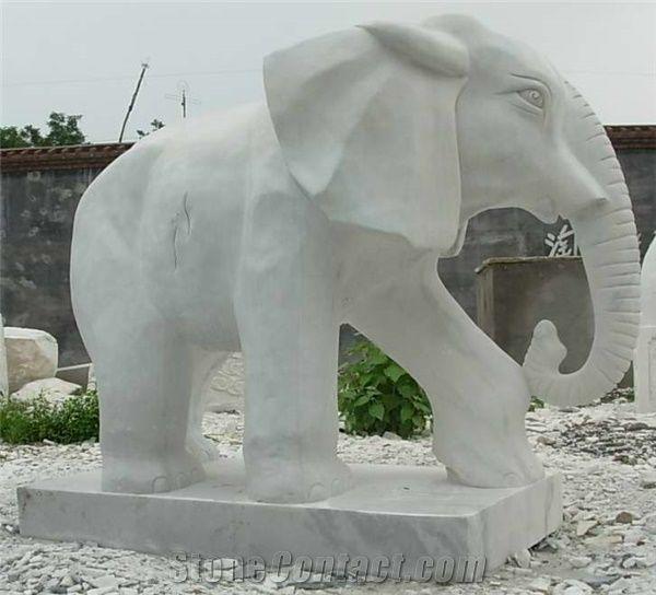 White Marble Elephant Sculpture Elephant Statue Norward