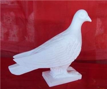 White Marble Pigeon Statue, Sculpture