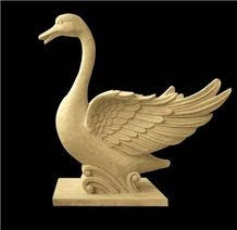 White Marble Swan Statue, White Swan