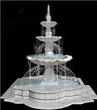 White Marble Tower Fountain, Plates Fountain