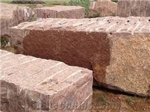 India Red Granite Blocks