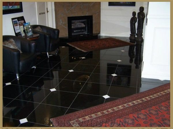 Absolute Black Granite Floor Tiles India