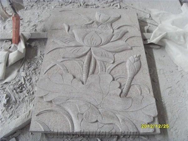 Granite relief stone carving wall from china