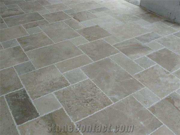 Royal Amber Marble Broken Edge Pattern Slabs Tiles, Turkey Beige
