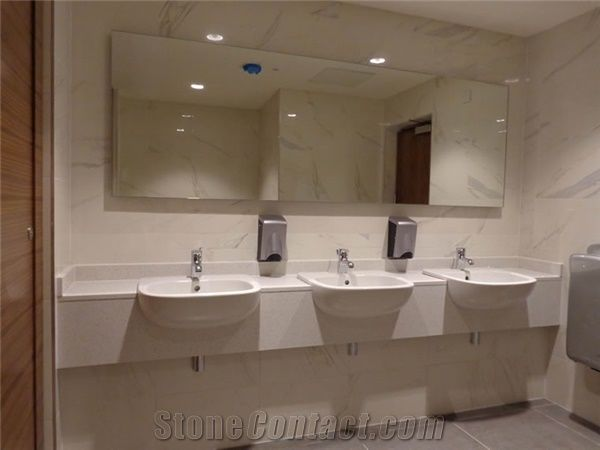Bianco Covelano Marble Commercial Bathroom Vanity Tops