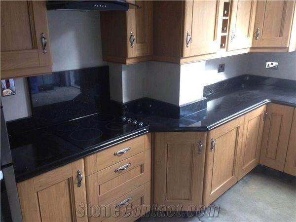 China Nero Assoluto Granite Kitchen Countertop From Ireland