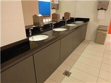 Quartz Stone Commercial Bathroom Vanity Tops, Black Bathroom Vanity Tops