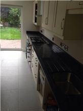 Star Galaxy Granite Kitchen Countertop, India Black Granite
