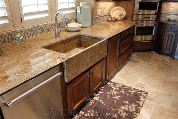 Mascarello Granite Kitchenn Countertop Farm Sink From