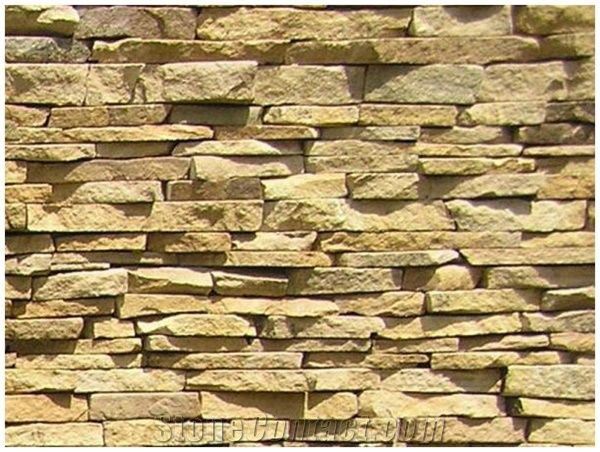 Rust Yellow Sandstone Natural Face Wall Cladding Panel ... Yellow Sandstone Cladding
