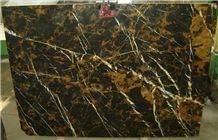 Black & Gold - Pakistani Portoro Slabs & Tiles