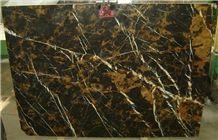 Pakistani Portorro Slabs & Tiles, Black & Gold Marble Slabs & Tiles