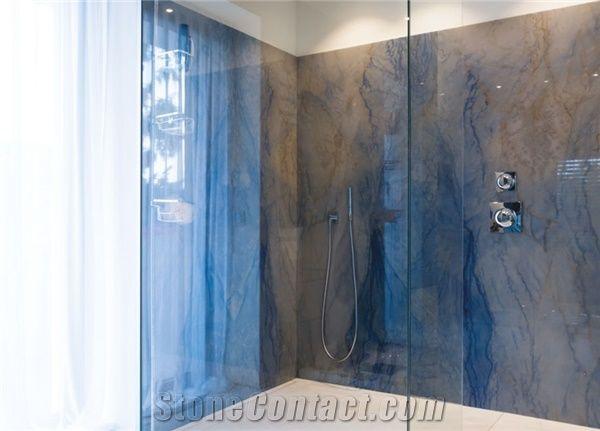 Azul Macaubas Quartzite Bathroom Design From Austria