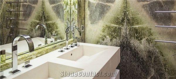 Irish Green Extra Marble Bathroom Wall Tiles from Austria ...