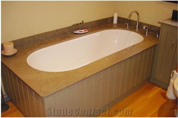 Azul Valverde Limestone Bathtub Deck from United Kingdom ...