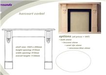 Harcourt Corbel Pietra Leccese Limestone Fireplace Mantel Design