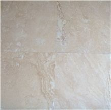 Ivory Wavy Travertine Honed and Filled Tile