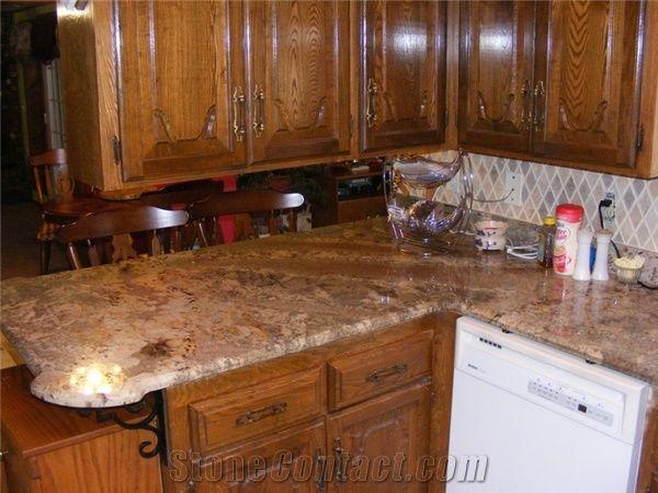 Netuno Bordeaux Granite Kitchen Countertop From United