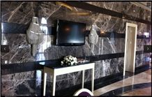 Karesi Dark Marble Wall Tiles, Turkey Grey Marble
