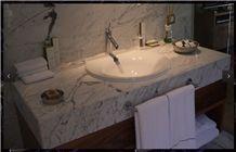 Turkey Calacatta Marble Bathroom Vanity Top