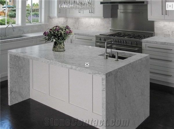 Bianco Carrara Marble Countertop From Italy 248233 Stonecontact