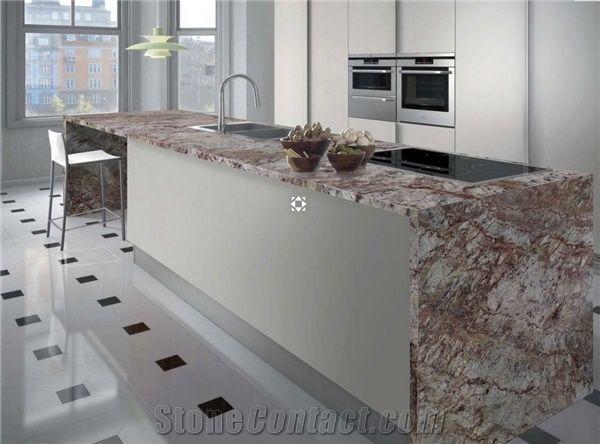 Typhoon Bordeaux Granite Countertop From Italy 248279