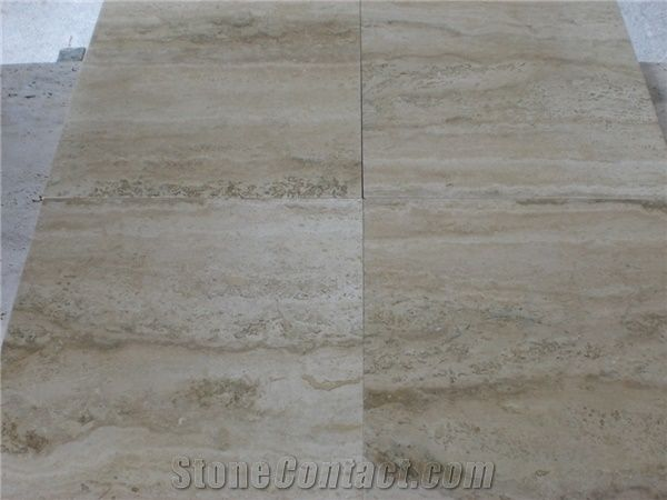 Travertino Romano Silver Light Tiles Slabs Grey Travertine Floor