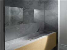Brazilian Arabescato Marble Bathroom Design