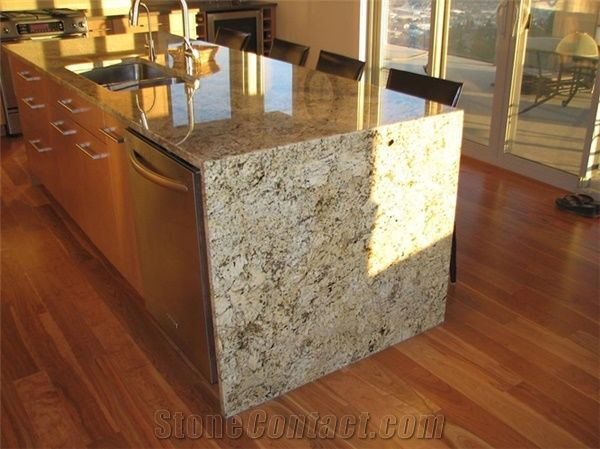 Residence Kitchen Countertop Granite Golden Beach From